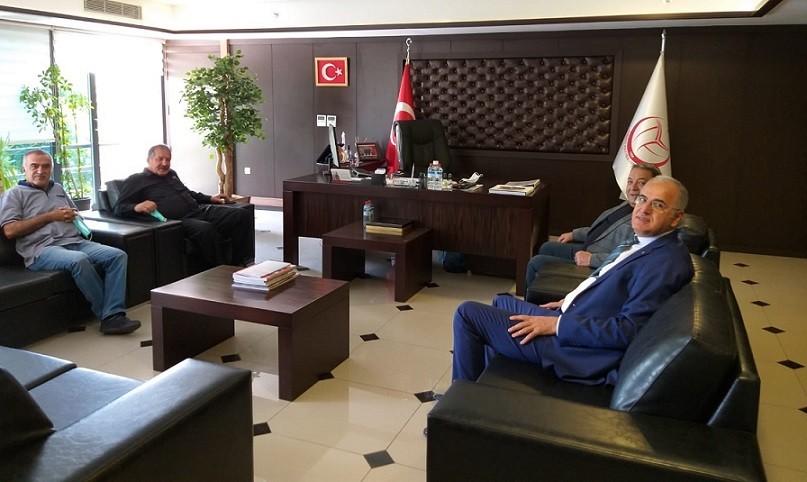 Malatya Milletvekili Fendoğlu ve Malatya B.Şehir Bld. Spor Kulübü Başkanı Cüceman, TVF Başkanı Üstündağ'ı Ziyaret Etti